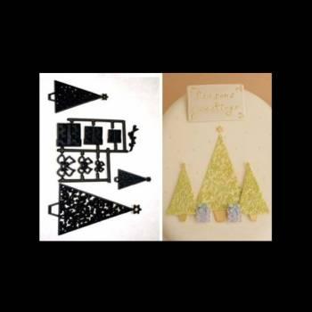 Découpe/empreinte patchwork Sapin/cadeau
