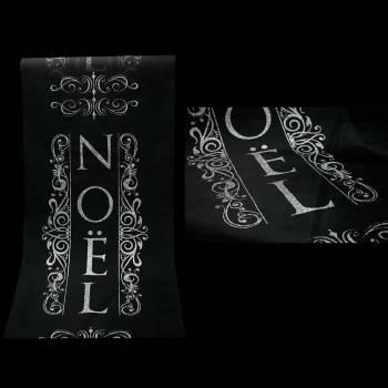 Chemin de Noël argent/noir