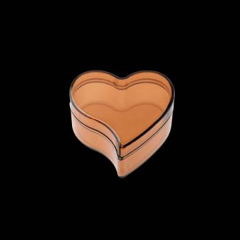 6 Boites à dragées coeur plat