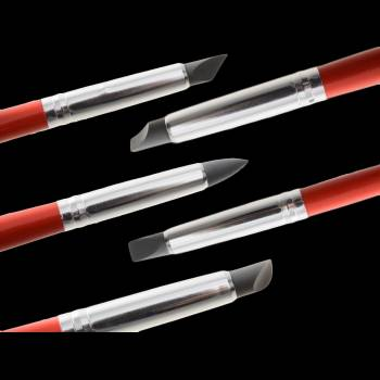 5 pinceaux M à modelage en silicone