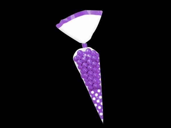 sacs à confiseries coniques violet pour bonbons