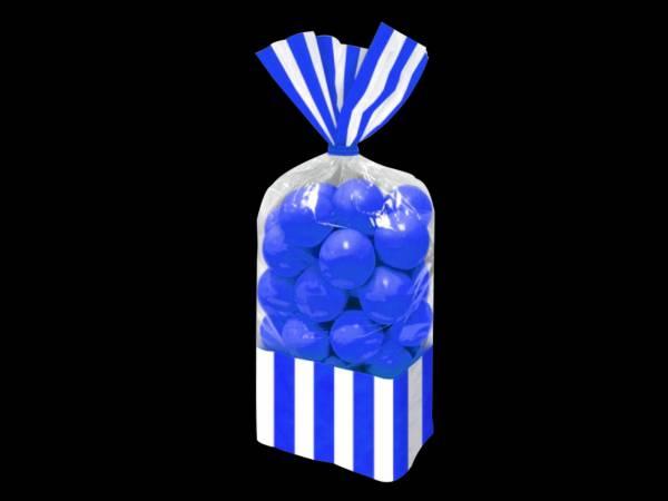 sacs à confiseries rayures bleu royal pour candy bars