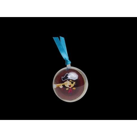 Décor pour boule plexi de Ø 5 cm, à insérer à l'intérieur, mettre entre 3 et 5 dragées ou bonbons avec Livré sans les boules
