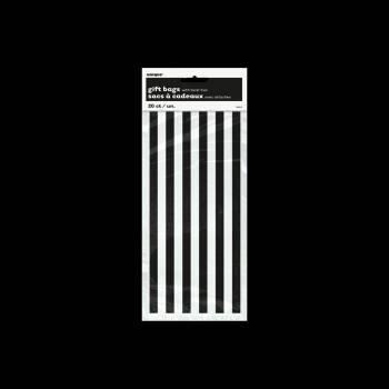 20 Sachets rayures noire et blanche