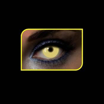 Lentilles fantaisies UV brillante jaune