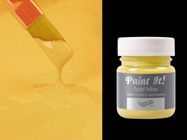 Deco de g teau peinture alimentaire jaune pastel paint it for Peinture murale jaune pastel