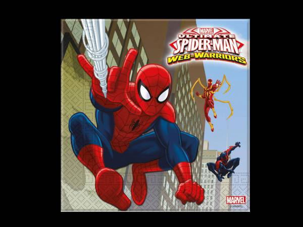 Serviettes spiderman web warriors deco anniversaire - Deco anniversaire spiderman ...