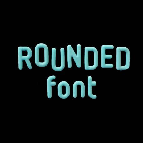 Moule a modelage alphabet rond