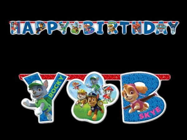 Souvent Happy Birthday Pat patrouille pour anniversaire QT89