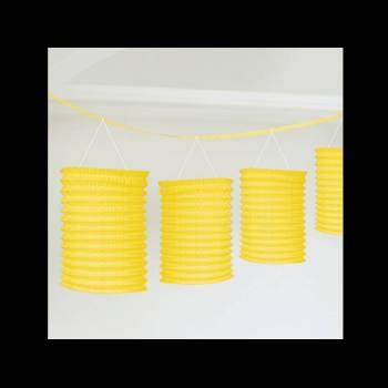 guirlande lampions jaune pour une d coration de salle f te. Black Bedroom Furniture Sets. Home Design Ideas