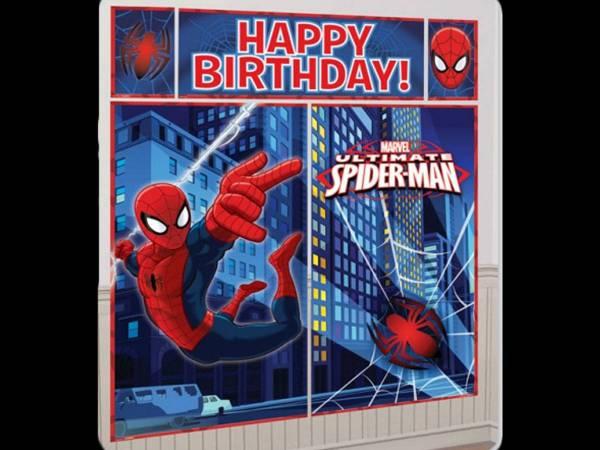 D cor mural spiderman swirl deco anniversaire - Deco anniversaire spiderman ...