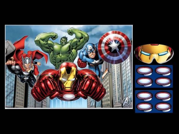 Kit jeux avengers pour anniversaire - Kit anniversaire super heros ...