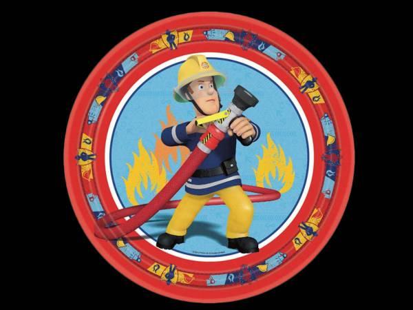 Assiettes sam le pompier deco anniversaire - Deco gateau sam le pompier ...