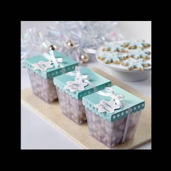 3 Boîtes confiserie flocons Wilton