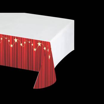 Nappe en plastique rideau rouge thema deco for Rideau en plastique exterieur