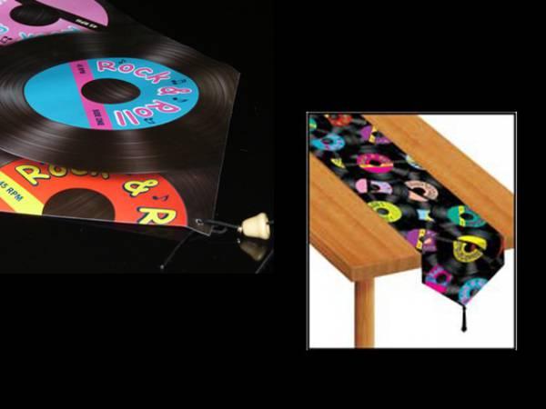 chemin de table disque rock n 39 roll. Black Bedroom Furniture Sets. Home Design Ideas