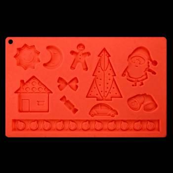 Moule à modelage silicone Noël