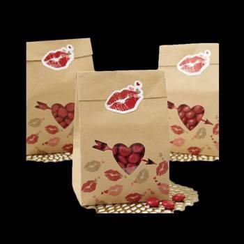 6 Sacs papier love Wilton