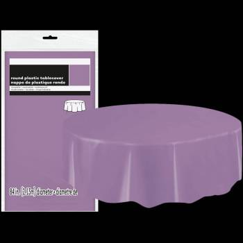 nappe ronde en plastique lavande thema deco. Black Bedroom Furniture Sets. Home Design Ideas