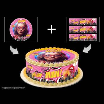 Kit Easycake Pop art girl à personnaliser
