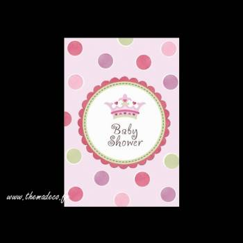 Invitations + enveloppes Little Princesse
