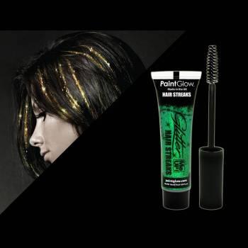 Mascara cheveux pailleté Vert