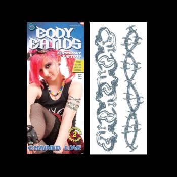 2 Tattoo tour de bras menottes et barbelés