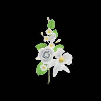 Bouquet de Roses et d'orchidée blanche