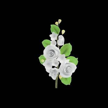 Bouquet de Roses et fleurette blanche