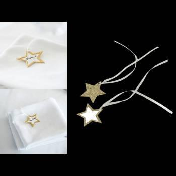 10 étiquettes étoiles or