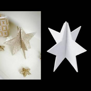 Décor de table étoile blanche