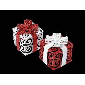 Décor de table cadeau rouge et blanc