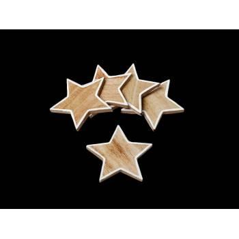 5 Confettis étoile en bois