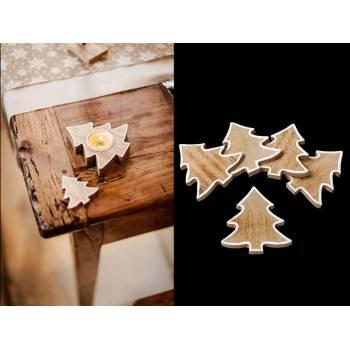 5 Confettis sapins en bois