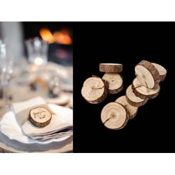 10 Rondins de bois naturel 5cm