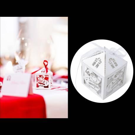 10 Boîte découpage Père Noël Dimensions : 7.5 cm x 5 cm