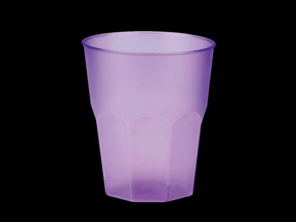 20 Verres cocktail plastique translucide lilas