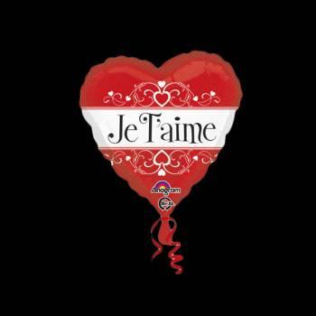 Ballon hélium coeur je t'aime