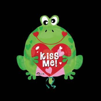 Ballon hélium grenouille kiss me