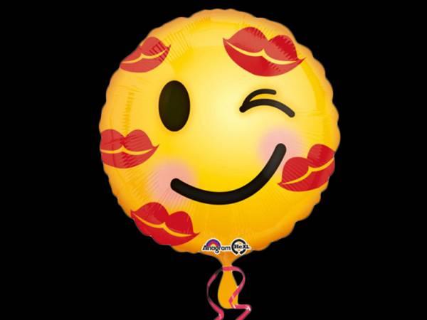 Ballon hélium emoticons kiss