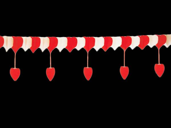 Guirlande papier coeur rouge et rose