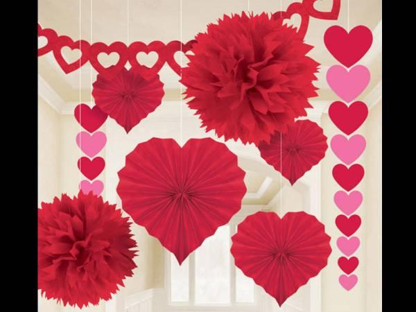 Kit décors de salle amour rouge