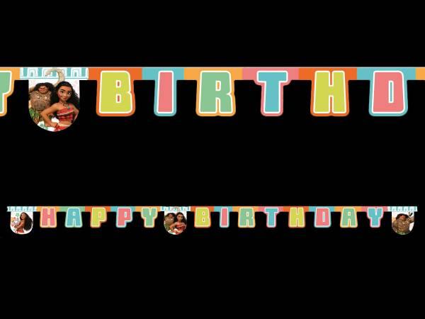 Banderole Happy Birthday Vaïana