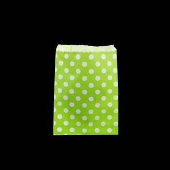 24 Pochettes papier pois vert
