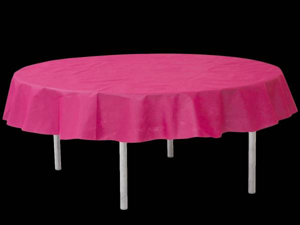 nappe ronde intiss e fuchsia. Black Bedroom Furniture Sets. Home Design Ideas