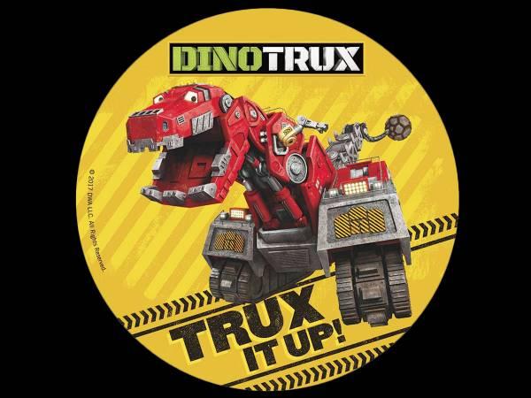Disque sucre Dinotrux- deco de gâteau