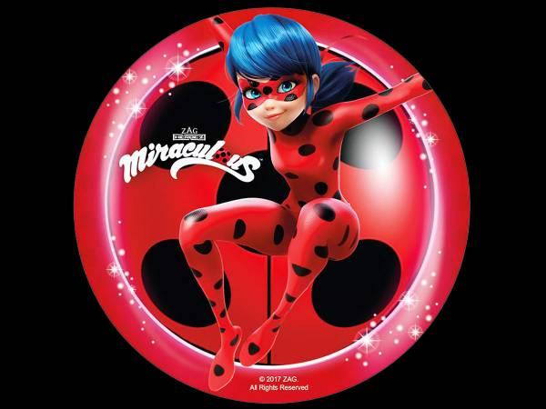 Disque en sucre Ladybug