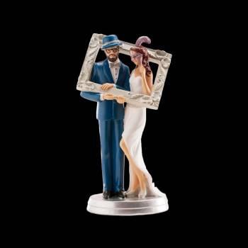 Figurine mariés photobooth