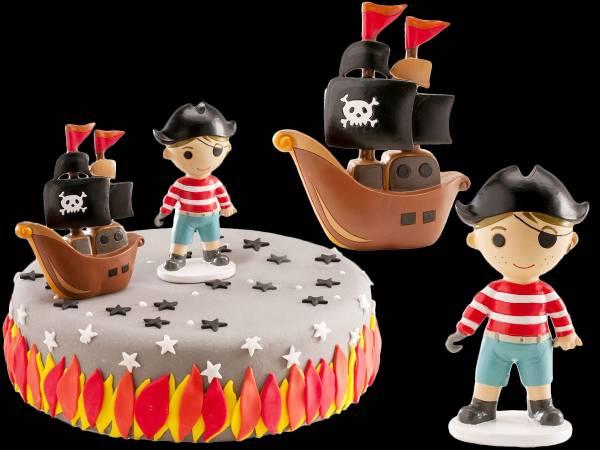 Set 2 décors pirate + bâteau