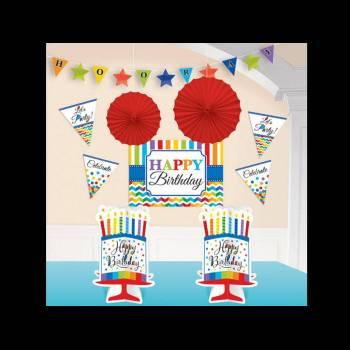 Kit décos Happy Birthday Color flash